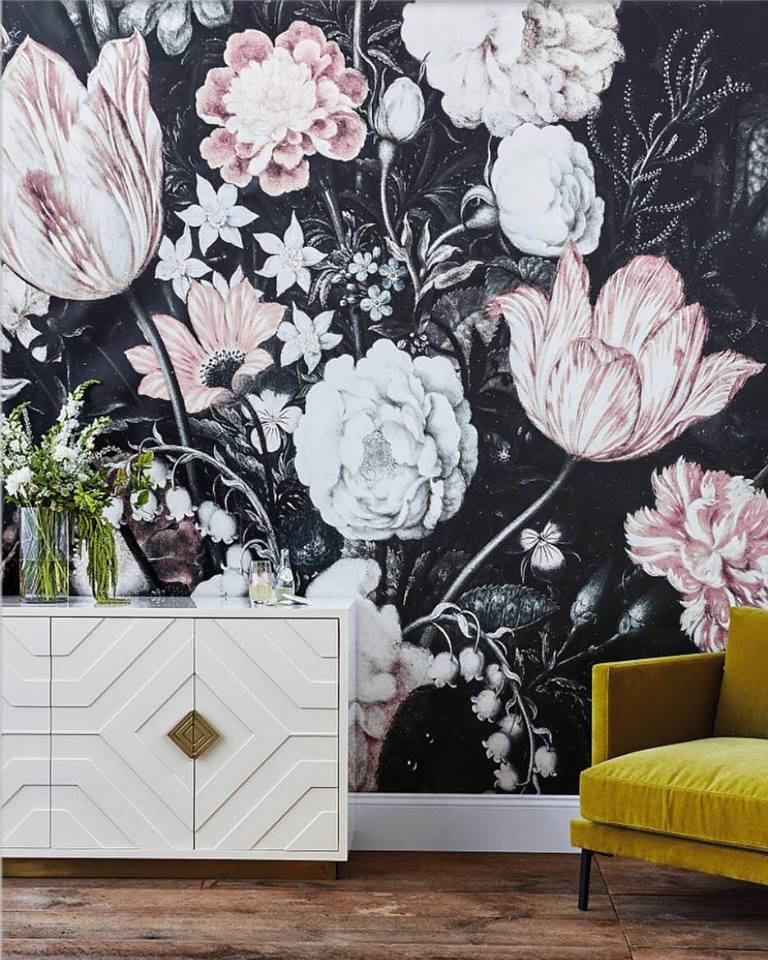 Dark Floral Wallpaper Ideas